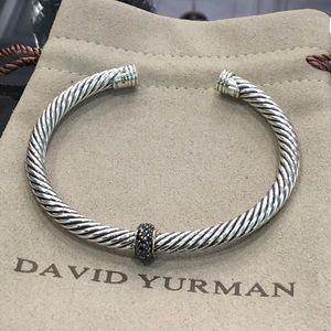David Yurman 5mm Station Black Diamond Bracelet